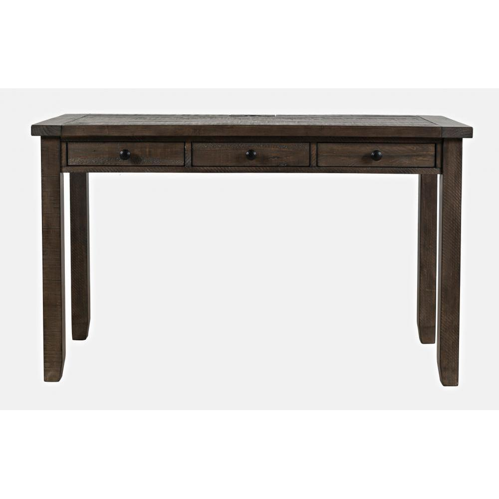 Madison County Desk With Power Charging Station Barnwood