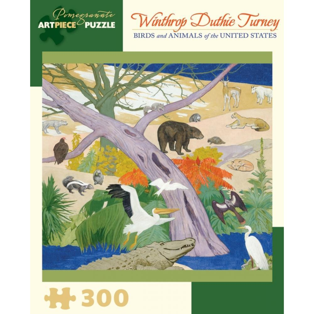 Puzzle 300 piece Winthrop Duthie Turney Birds and Animals US
