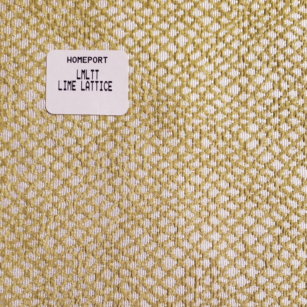Throw Pillow 12in x 18in Lumbar PHI Lime Mini Lattice