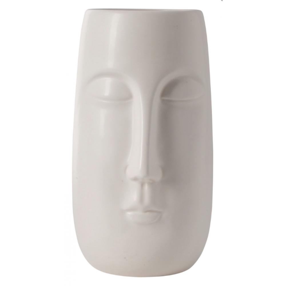 Vase - Matte White Head 8inH