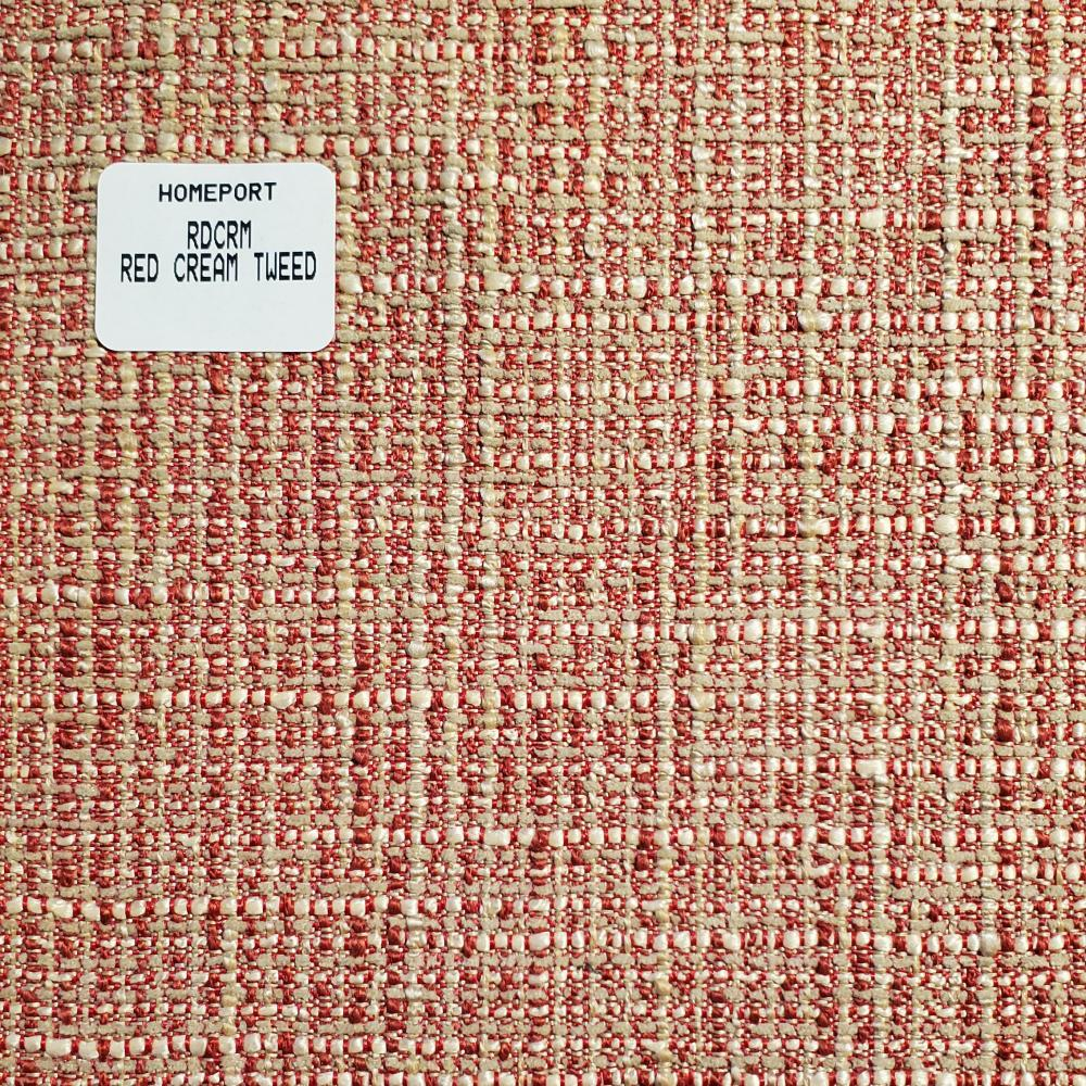 Throw Pillow 20in x 20in Square PHI Red Cream Tweed