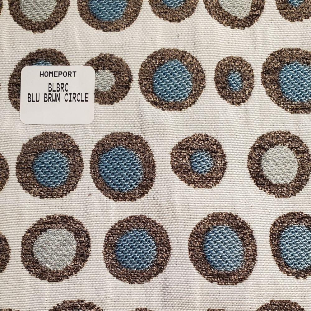 Throw Pillow 20in x 20in Square PHI Blue Brown Circles