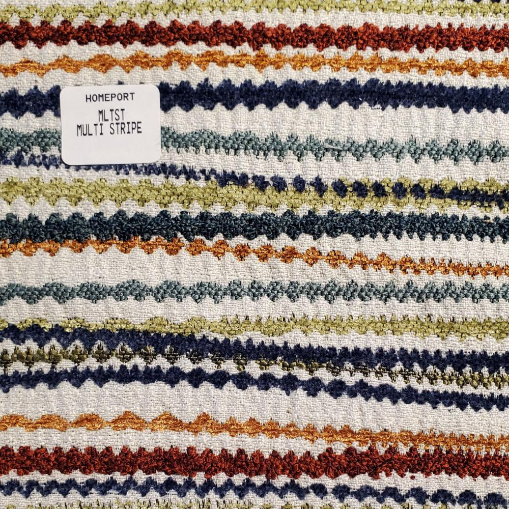 Throw Pillow 12in x 18in Lumbar PHI Multi Stripe