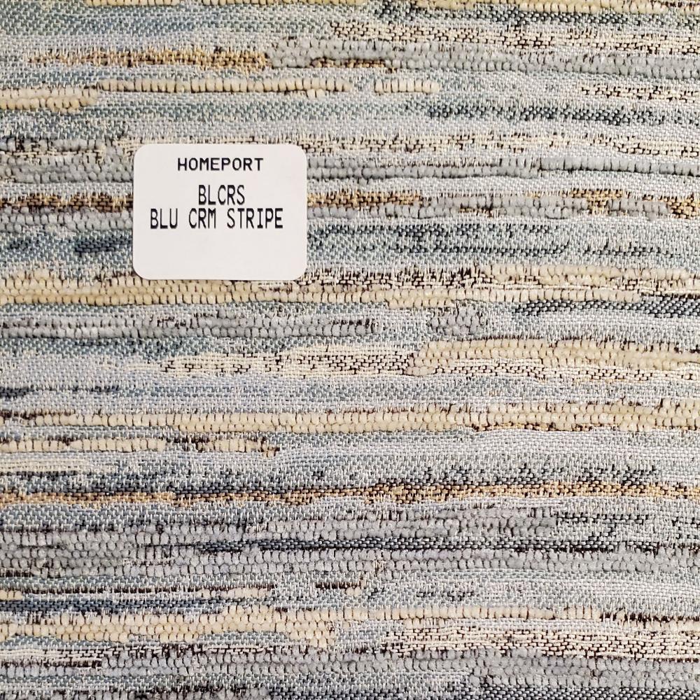 Papasan Cushion PHI Blue Cream Stripe
