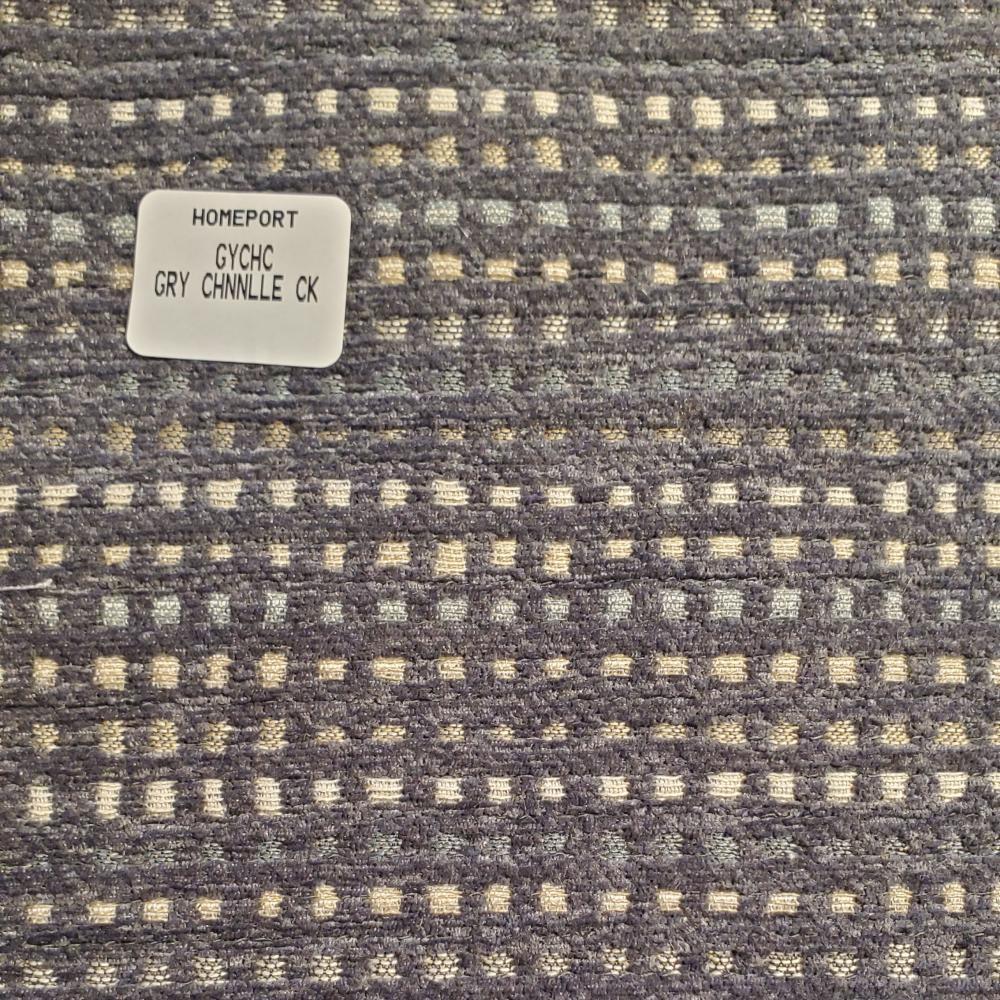 Floor Pillow 25in x 25in PHI Gray Cream Check