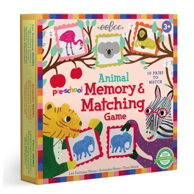 Memory Matching Pre School Game Animal