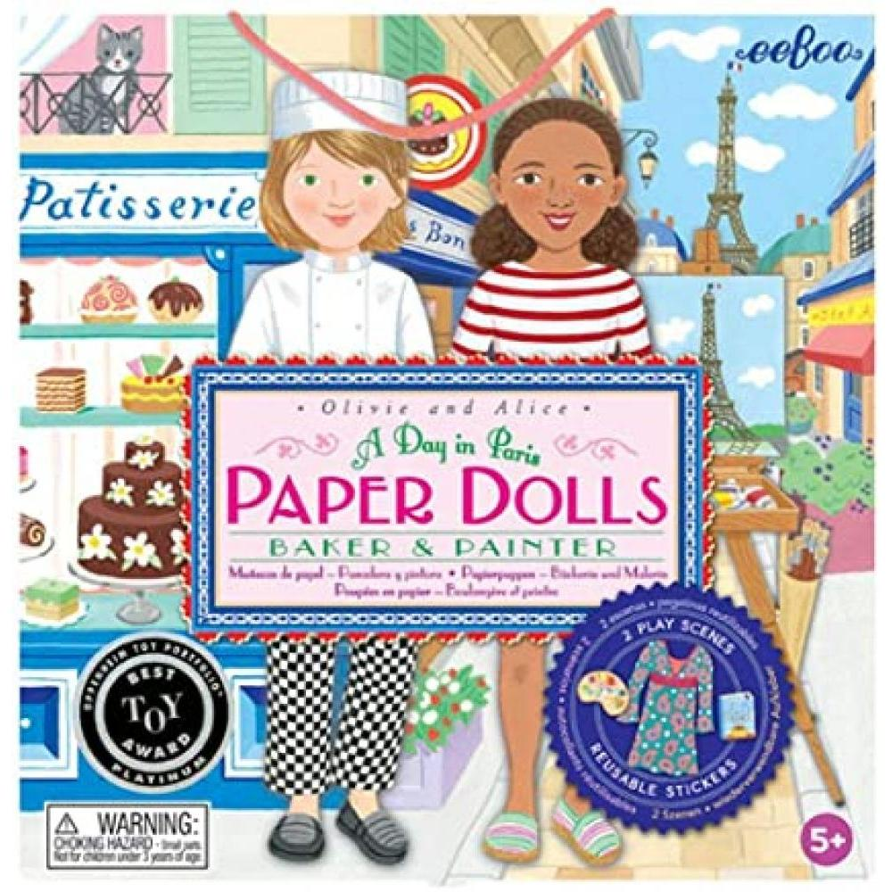 Paper Dolls Baker and Painter Olivie and Alice