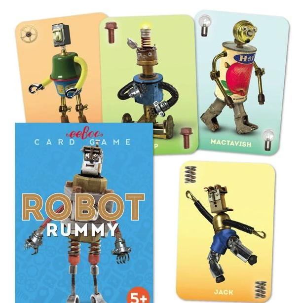 Playing Cards Rummy Robots