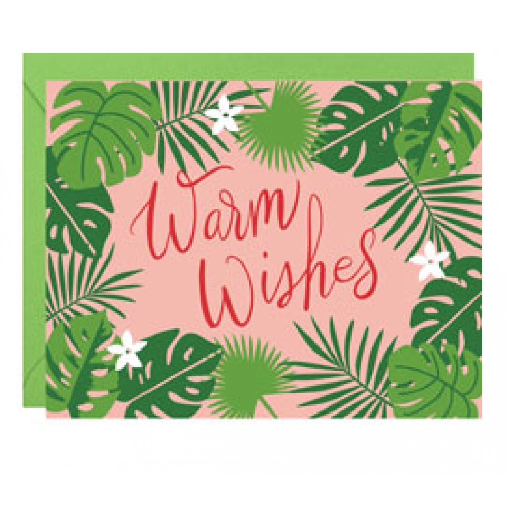 Boxed Card - Christmas - Warm Wishes Palms Foil