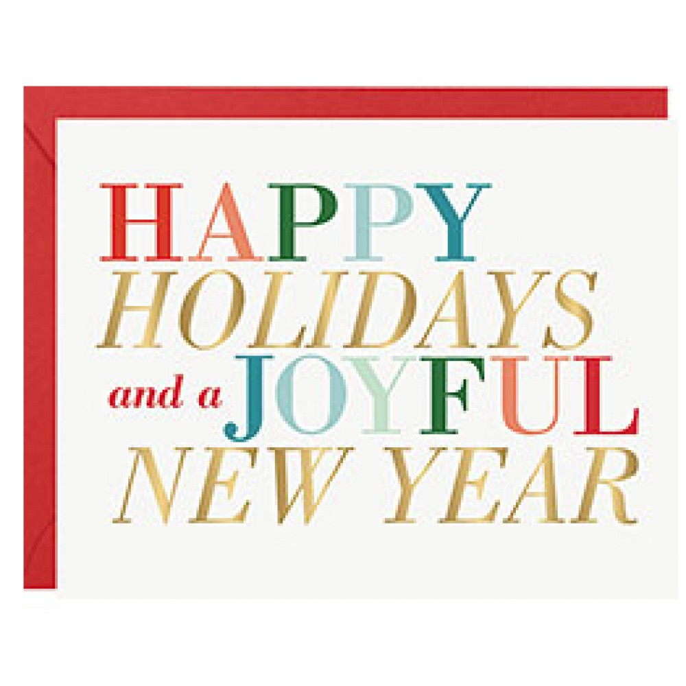 Boxed Card - Christmas - Holiday New Year Colorful