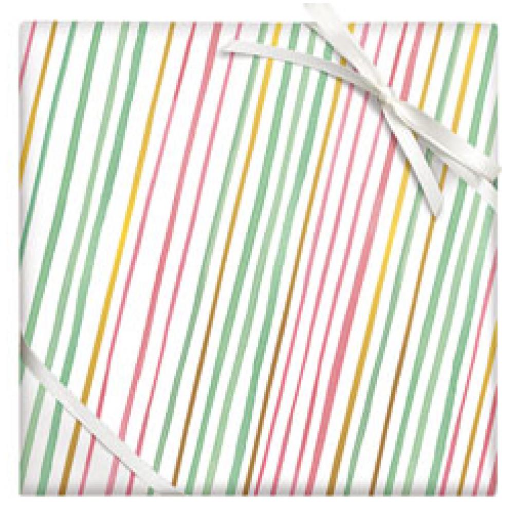 Gift Wrap - Watercolor Stripes Foil