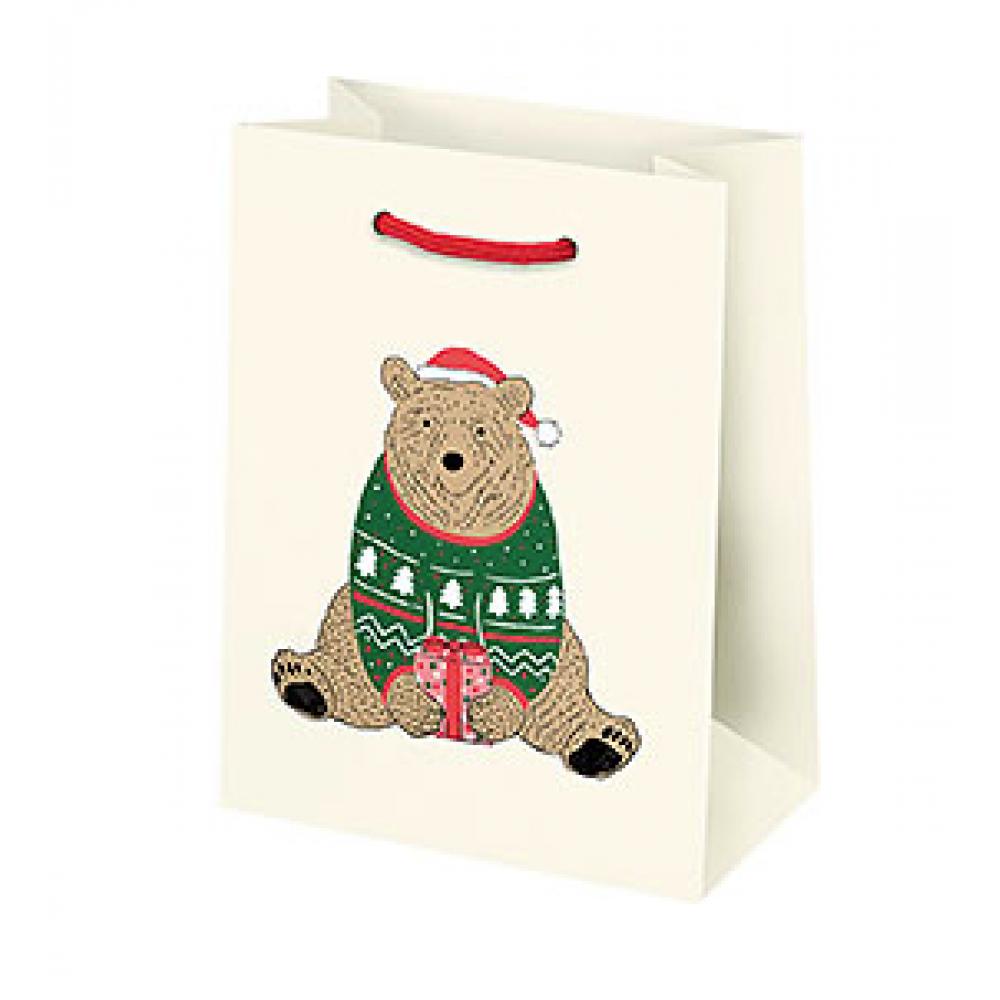 Gift Bag - Small - Holiday Bears