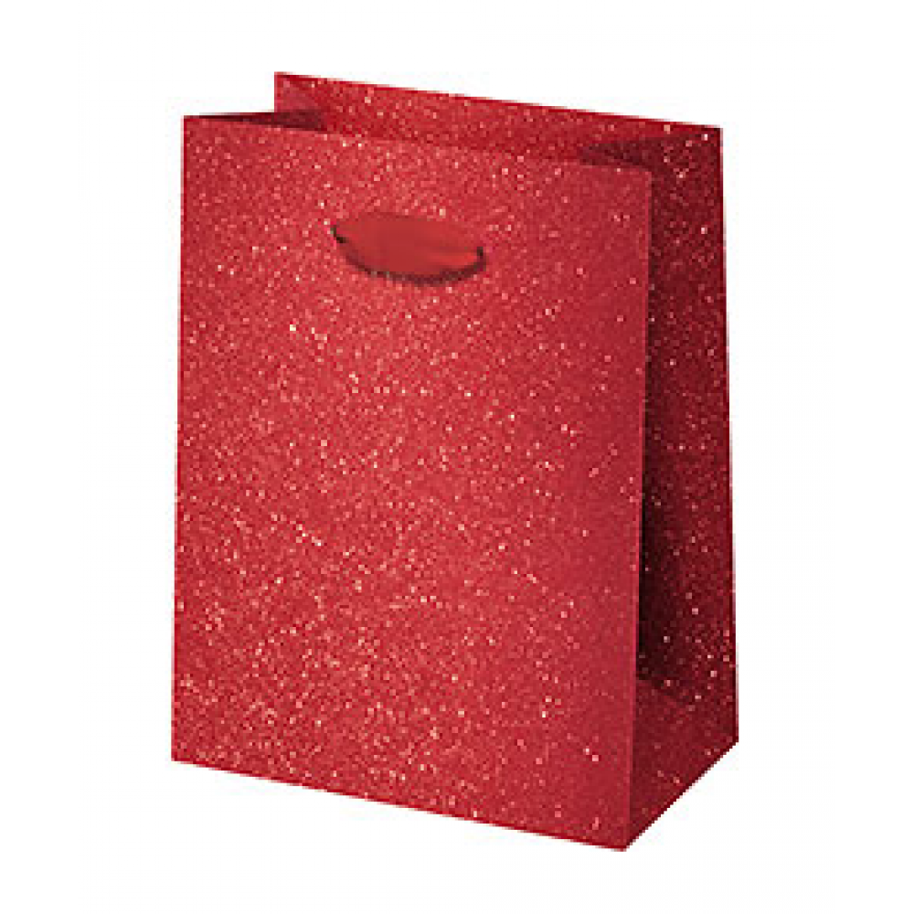 Gift Bag - Small - Red Glitter