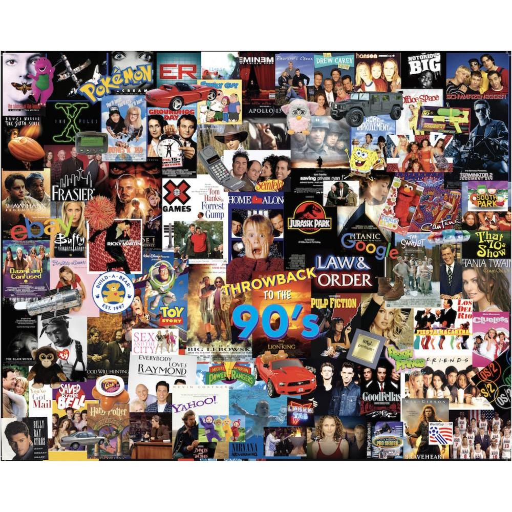 Puzzle 1000 Piece Throwback 90s by Stephen M Smith