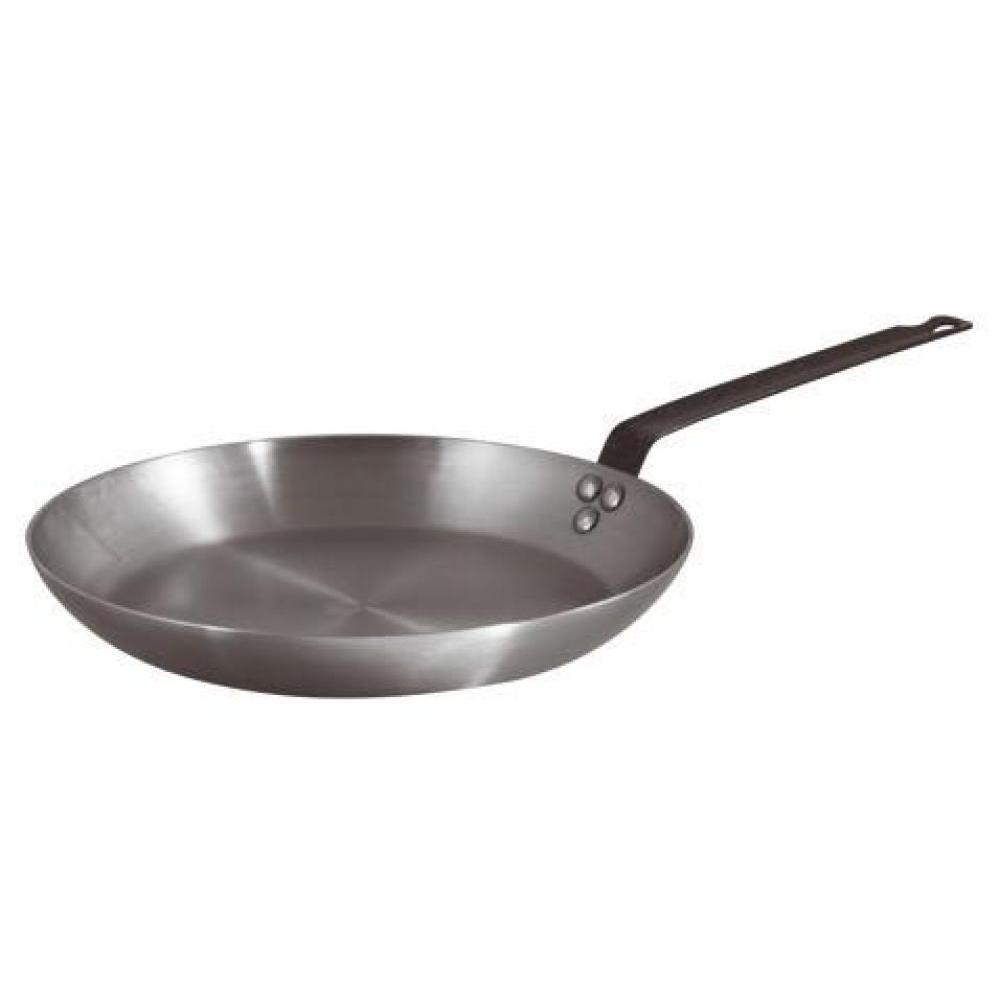 Heavy-duty Polished Carbon Steel Frying Pans 10-25in