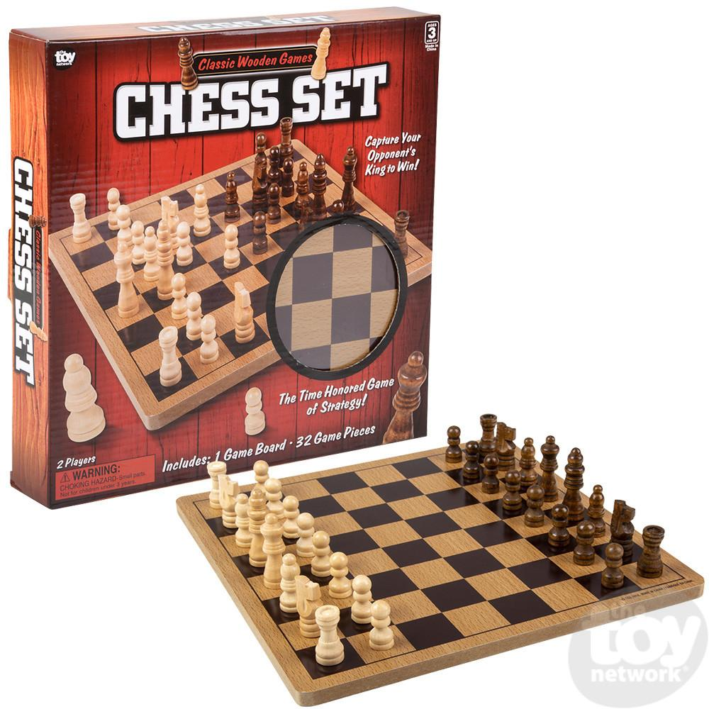 Chess Wooden 10in Board