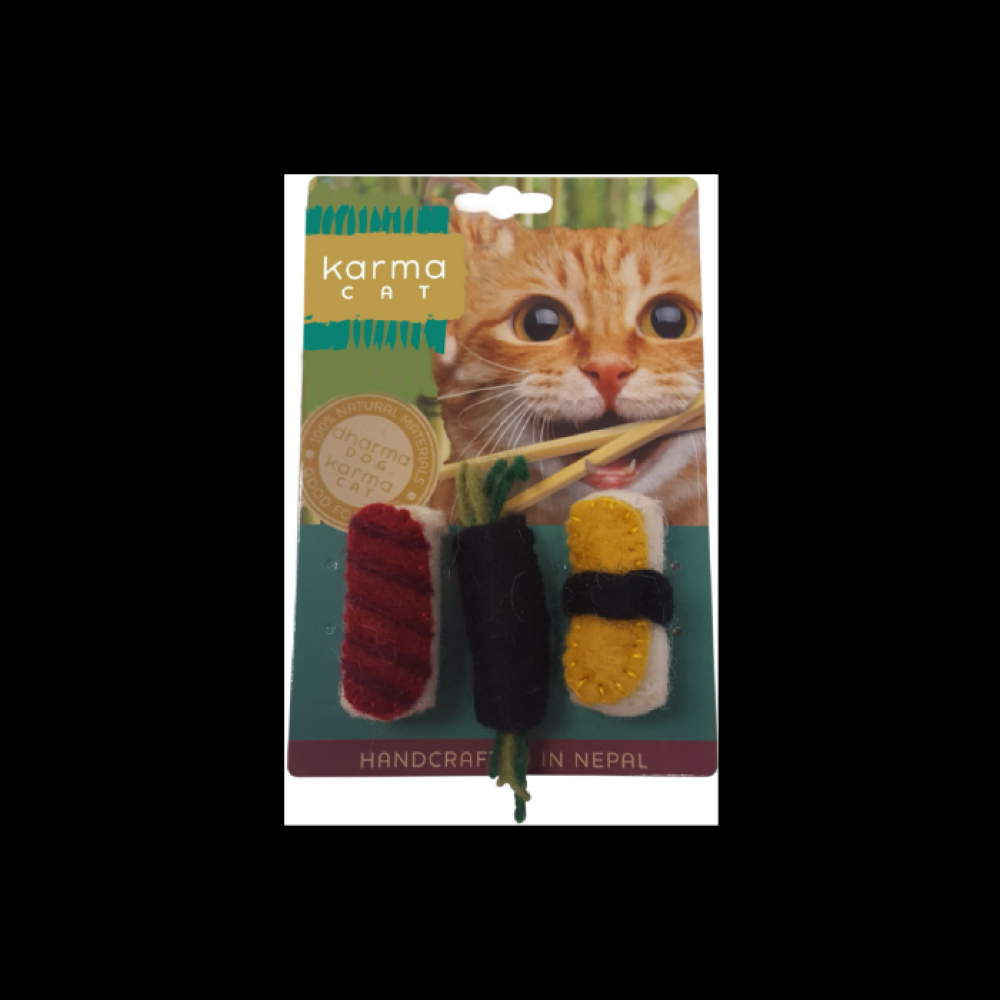Cat Toy Dharma Dog Karma Cat Wool Sushi 2 Pack