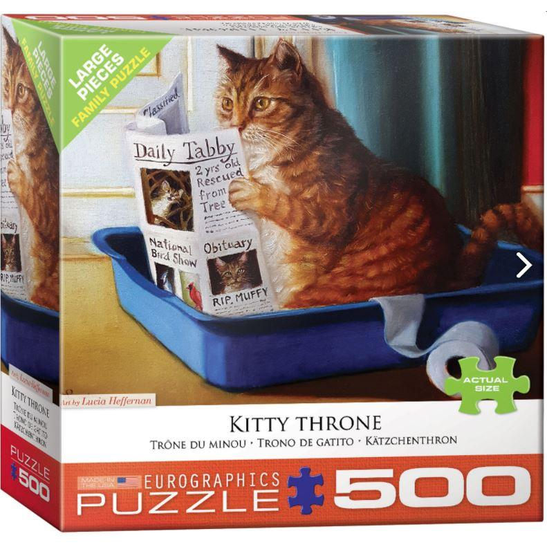 Puzzle Family 500 Oversized Pieces Kitty Throne