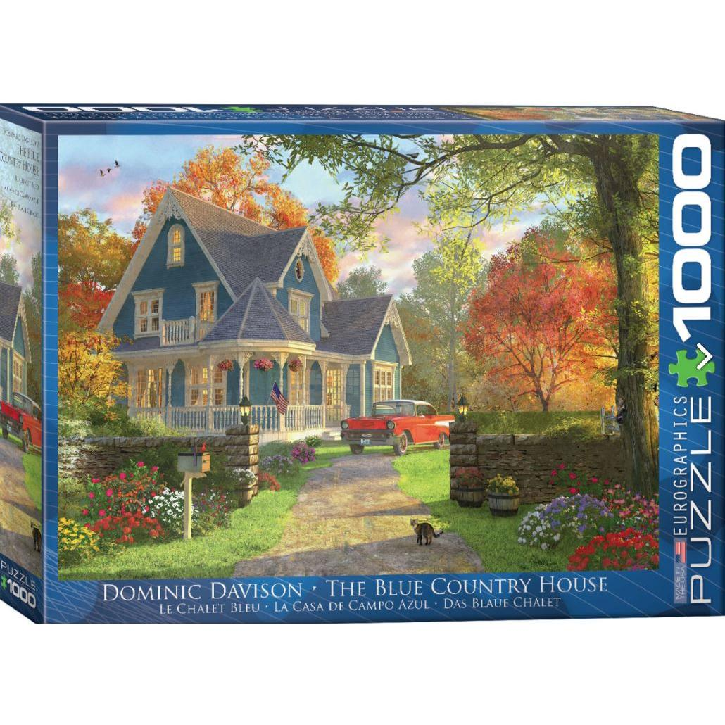 Puzzle 1000 Piece Blue Country House