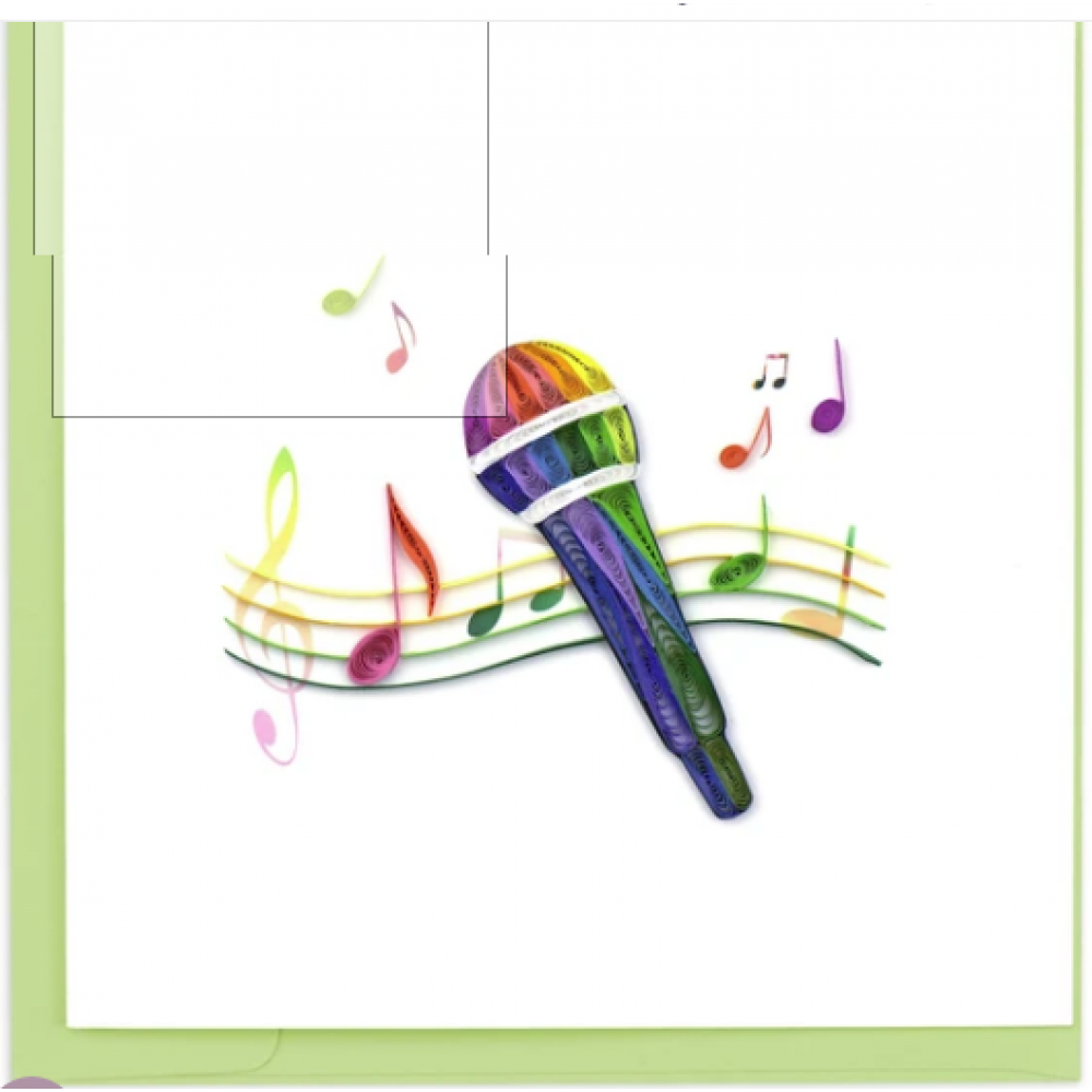 Quilled Microphone Greeting Card
