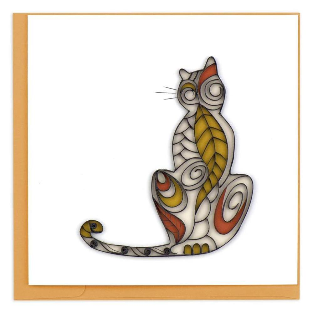 Quilled Cat Silhouette Card