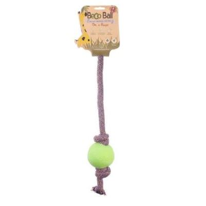 Dog Toy Beco Rope with Ball Large Green