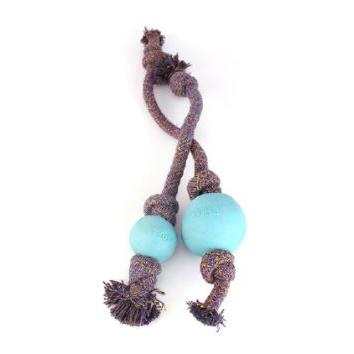 Dog Toy Beco Rope with Ball Small Blue