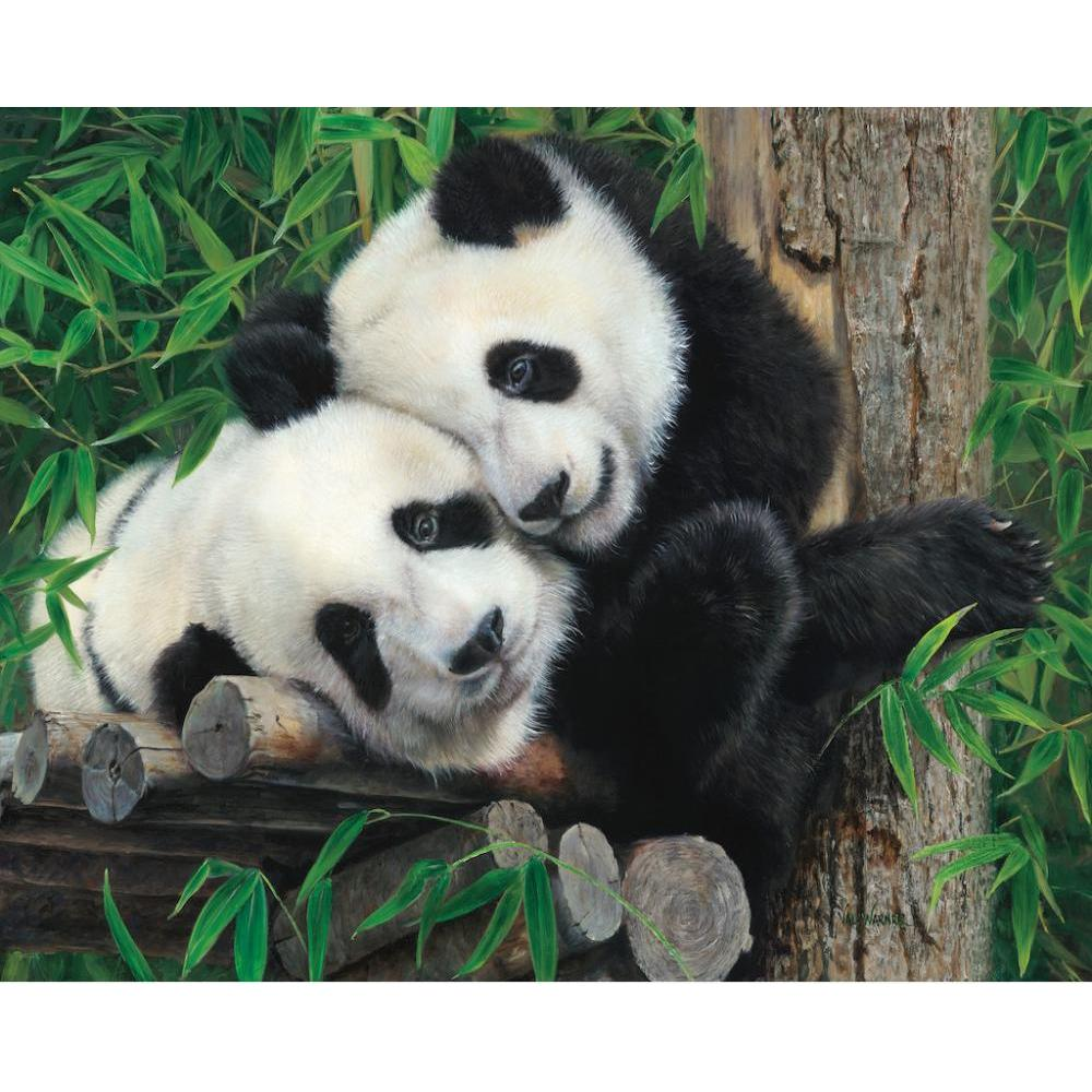Puzzle 1000 Piece Bamboo Buddies by Val Warner