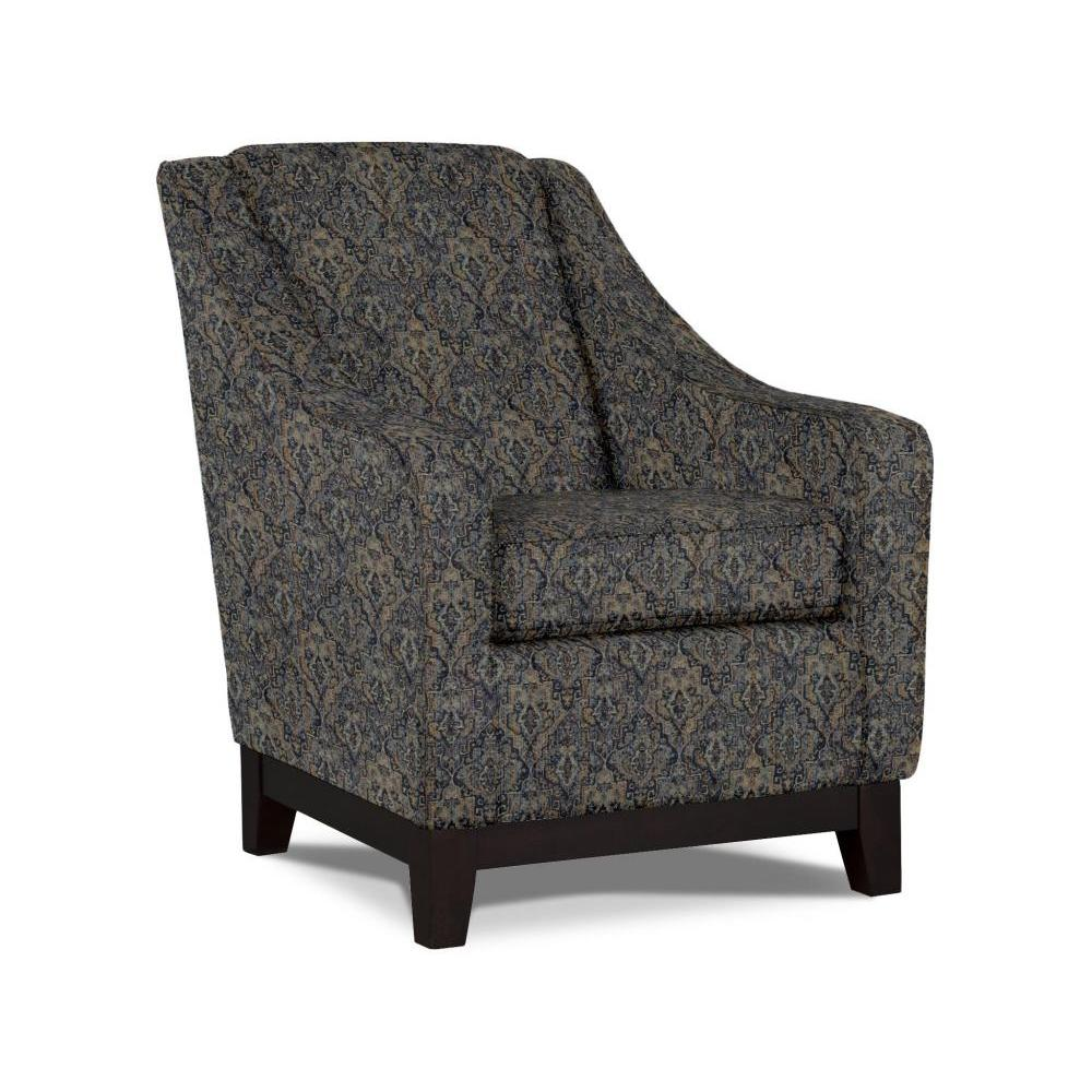 Mariko Accent Chair Espresso Finish Lapis Fabric