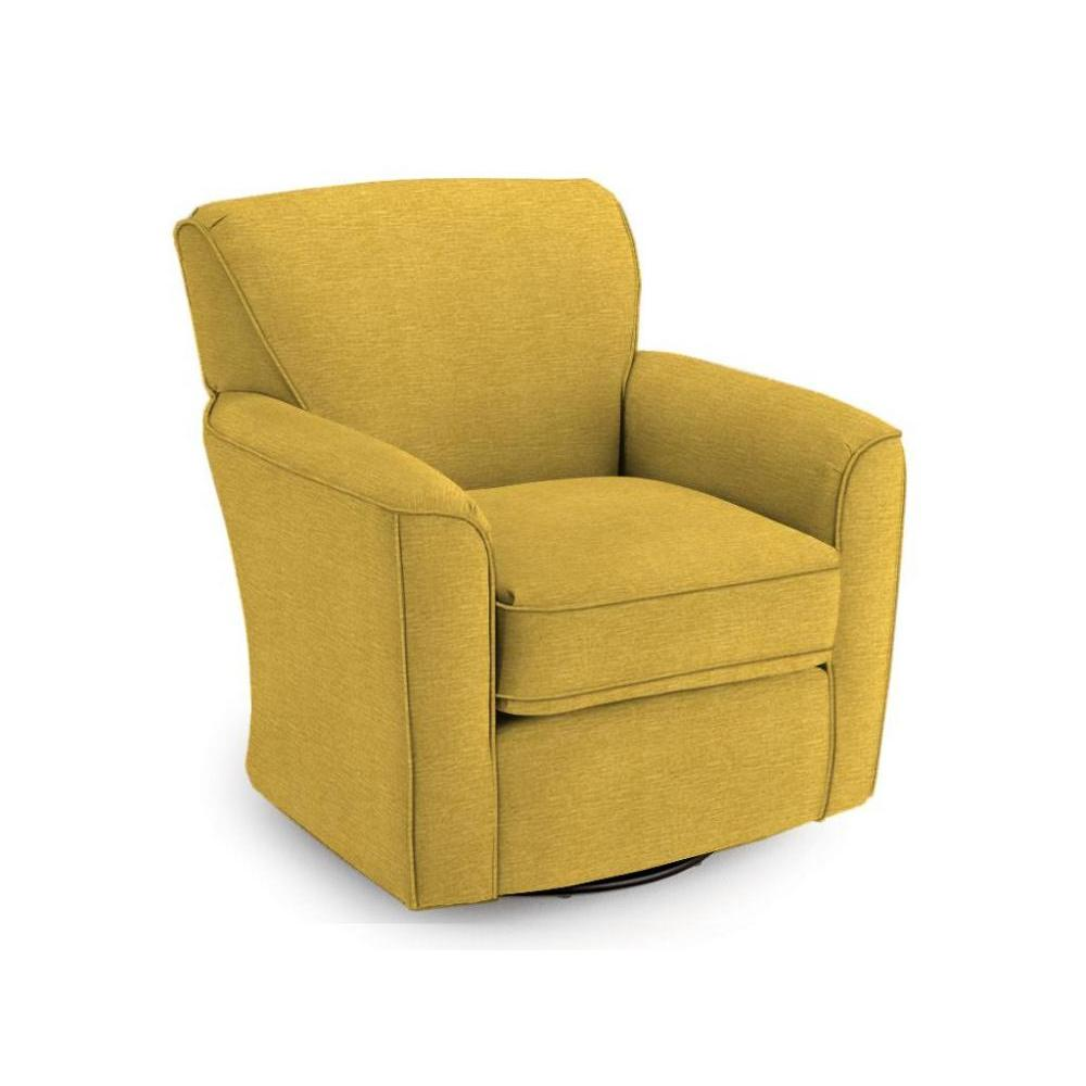 Kaylee 50s Swivel Glider In Curry Fabric