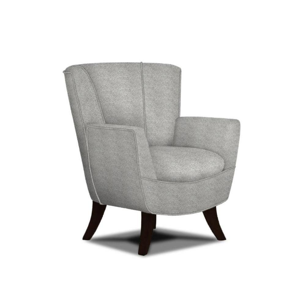 Bethany Accent Chair Indigo Leaf Fabric Espresso Leg (Picture Does Not Reflect Fabric or Color)