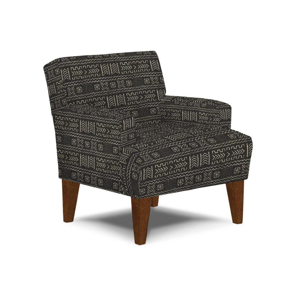 Randi Accent Chair Dark Walnut Leg Onyx Tribal Fabric