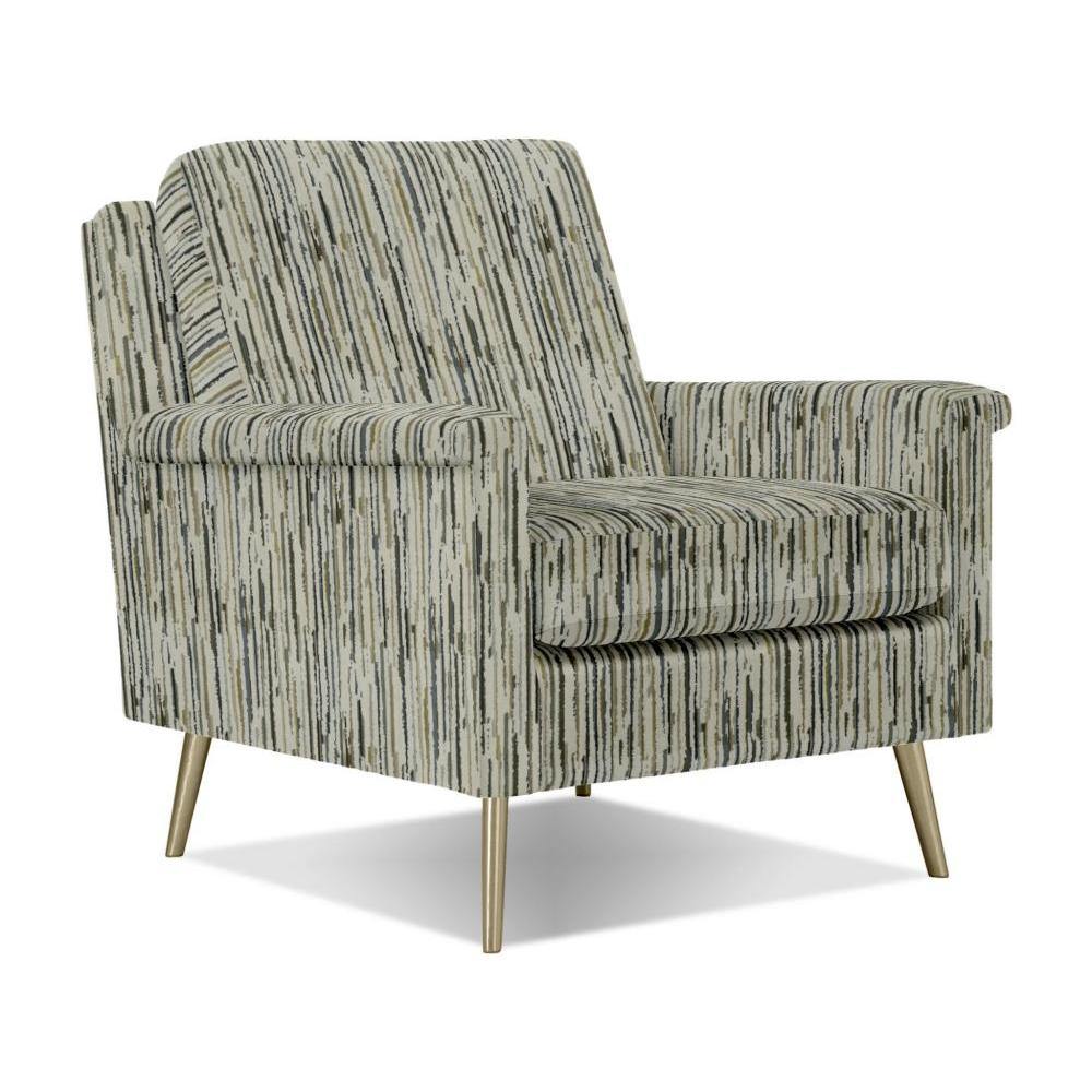 Dacey Chair Brushed Gold Leg in Bittersweet