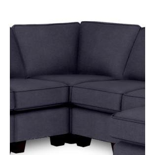 Annabel Sectional Component Armless Corner Wedge Espresso Feet in Navy
