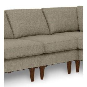 Trafton Sectional Component Armless Chair Dark Walnut Wood Leg in Bark Fabric