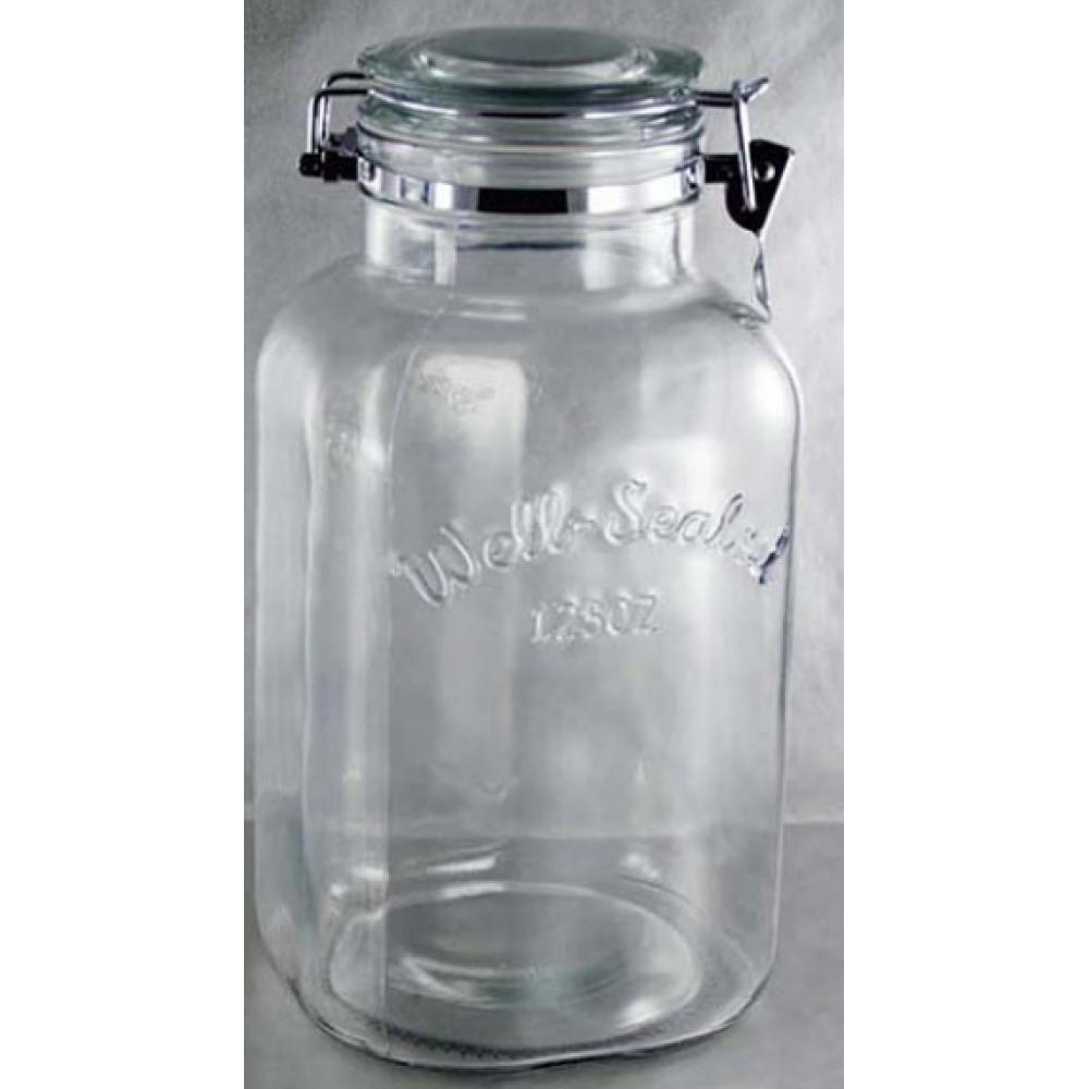 Well Sealed B&T emboss storage jar 125oz