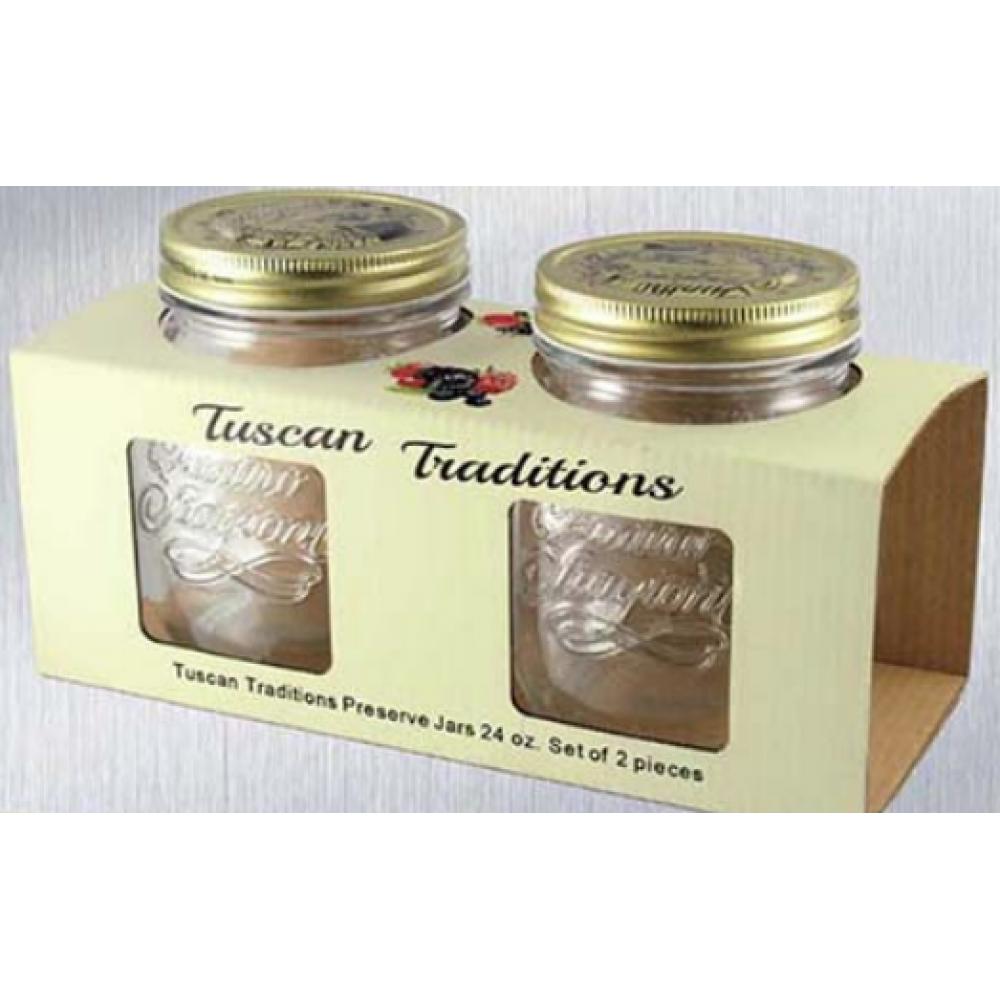 Tuscan Traditions preserve jars 24 oz. set/2