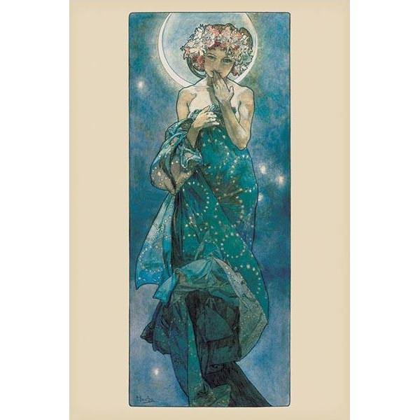 24inx36in Mucha Moon Poster